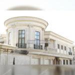 طراحی نمای ساختمان با سنگ تراورتن عباس آباد موجدار