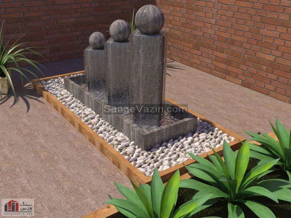 آبنمای سنگی ساتین کارشده