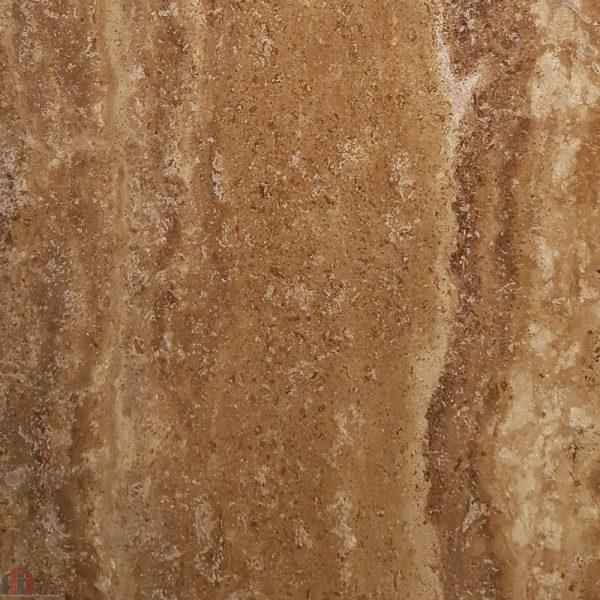 سنگ تراورتن شکلاتی رنگ طرح نمای ۱