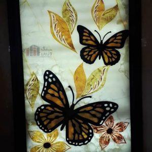 معرق سنگی مدل پروانه