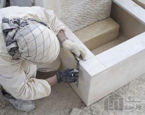 اجرای آبنمای سنگی سفارشی