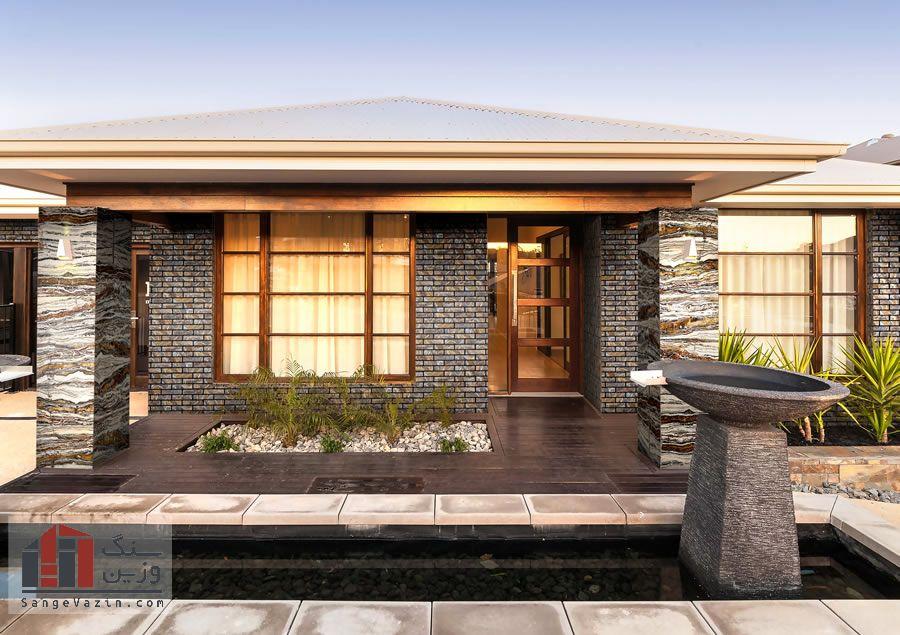 نمای سنگی خانه های ویلایی