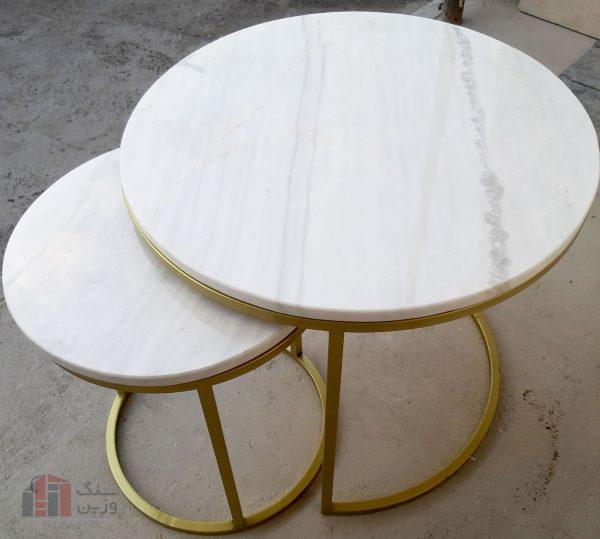 میز سنگی کوچک - فلزی