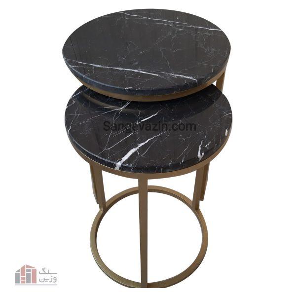 میز سنگی آویژه مشکی