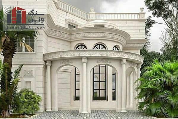طراحی نمای سنگ ساختمان