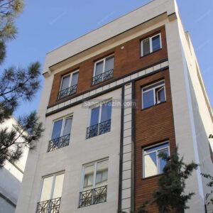 نمای ساختمان ترکیبی با تراورتن