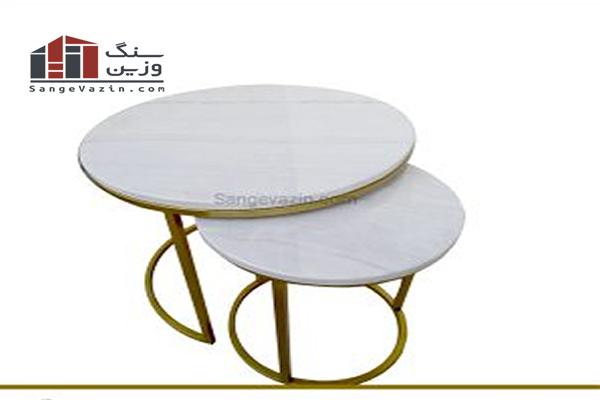 میز جلو مبلی با سنگ
