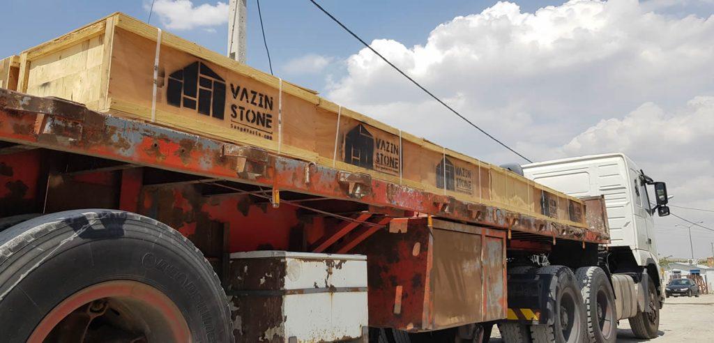 تریلر صادراتی سنگ های ساختمانی