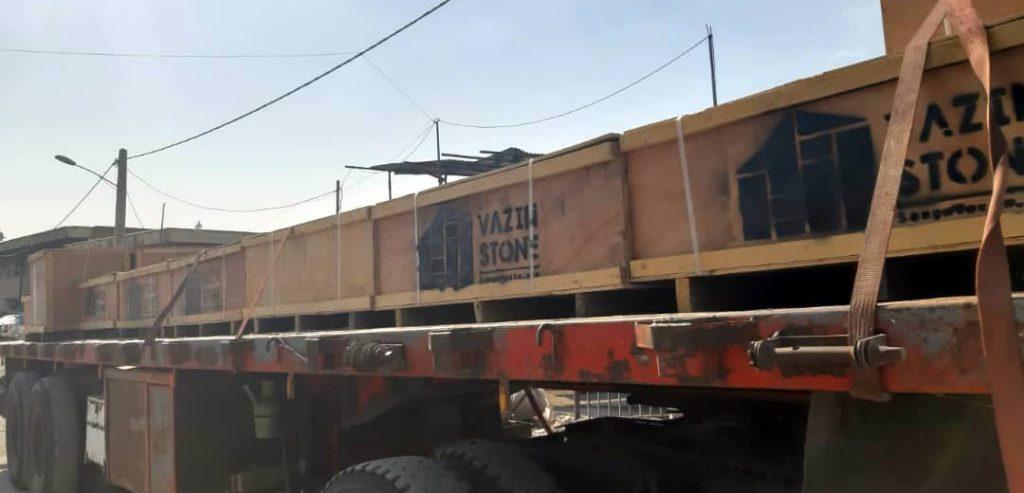 سنگ ساختمانی صادراتی بار تریلر