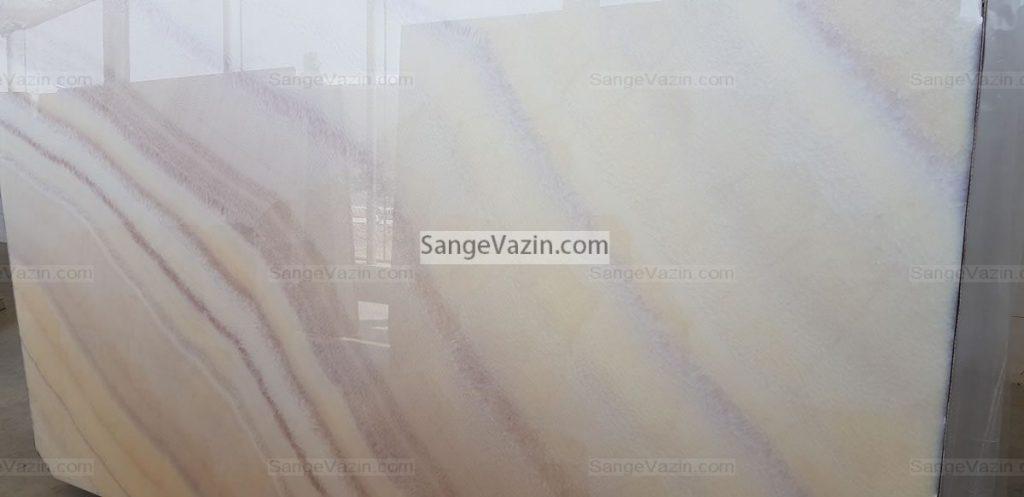 light wavy onyx slab