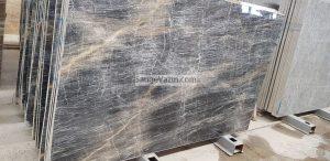 Wavy Textured Marble Slab