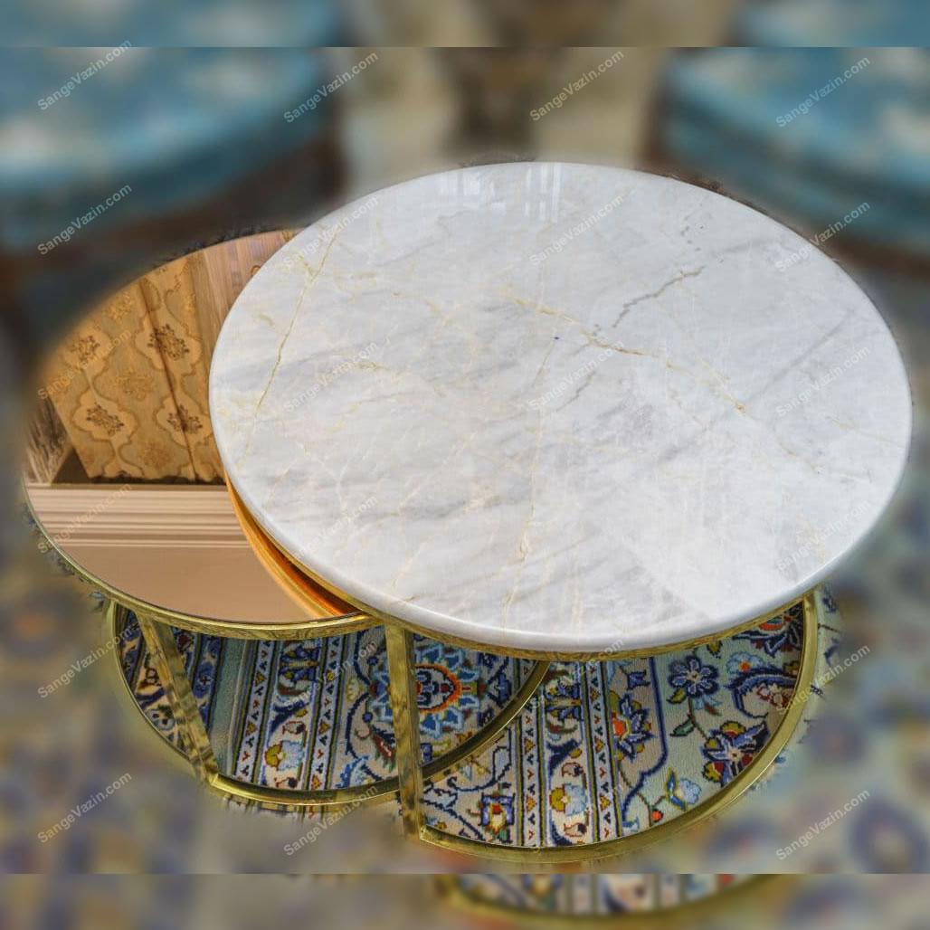 میز جلو مبلی آویژه ساخته شده از سنگ مرمر