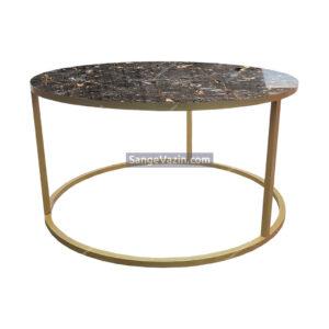 میز جلو مبلی بزرگ طلایی رویه مشکی