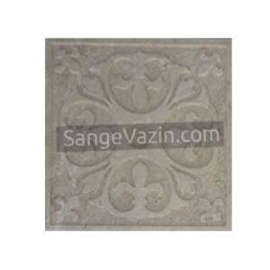 Cream stone flower design tile
