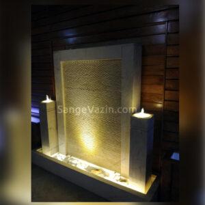 آبنمای سایز بزرگ ماندانا با نور پردازی در شب