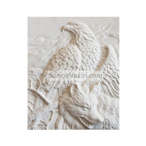 تابلو سنگ گرگ و عقاب
