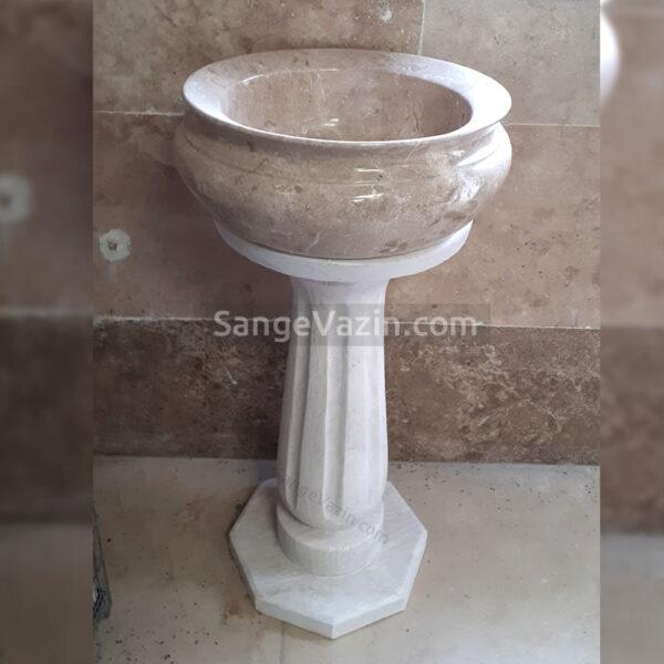 پایه میز و پایه گلدان سنگی به همراه گلدان
