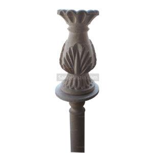 گلدان سنگی ساغر با پایه بلند سنگی