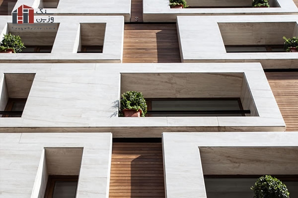 Modern stone facade