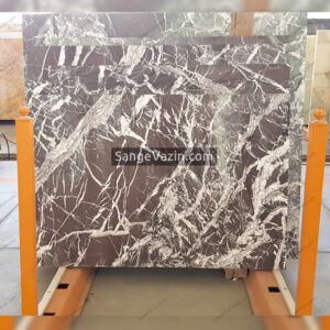 brown and white onyx slab
