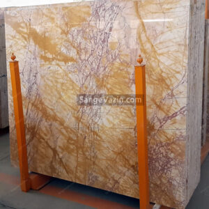 golden and onion color onyx slab
