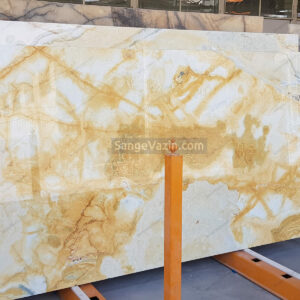 creamy and white onyx slab