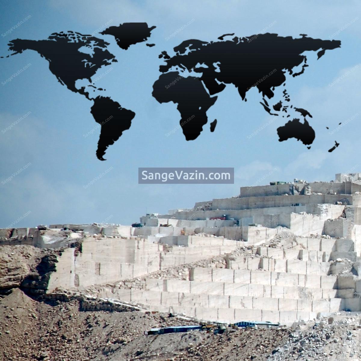 جایگاه ایران در تولید سنگ های ساختمانی در دنیا