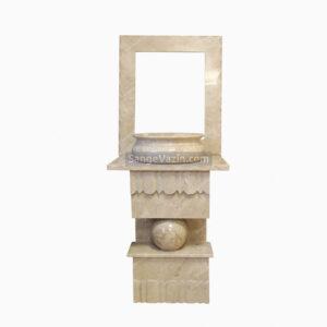 روشویی سنگی با قاب آینه