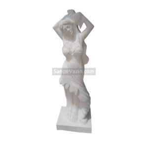 زن سنگی - مجسمه و پیکره دختر
