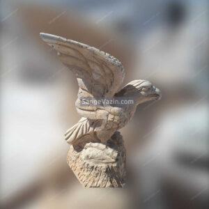 مجسمه سنگی دست ساز عقاب