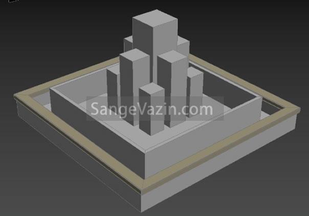 طراحی سه بعدی ستون آبنما