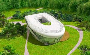 خانه ای به شکل توالت فرنگی