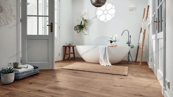کفپوش چوبی برای سرویس بهداشتی