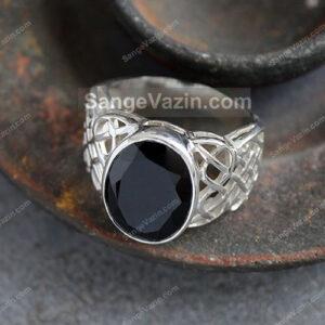 انگشتر سنگ عقیق سیاه