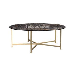 میز جلو مبلی سنگی مرمریت گلدن بلک