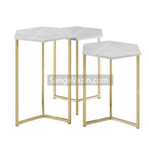 میز سنگی جلو مبلی – عسلی هگزا