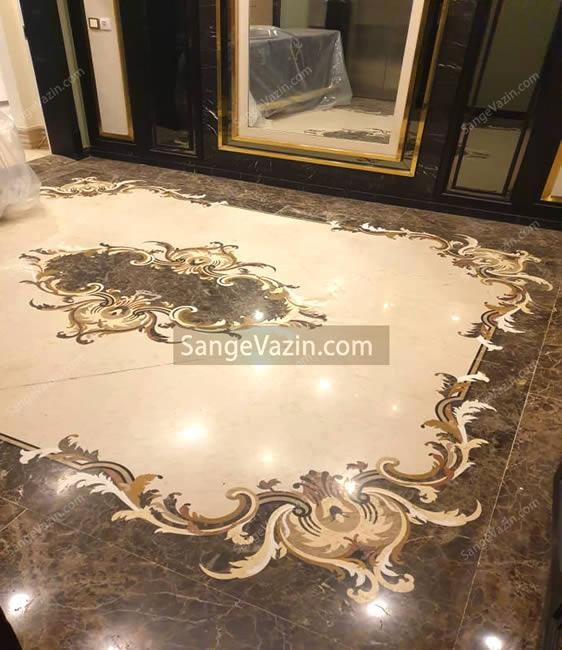 معرق حاشیه ای بزرگ طرح فرش