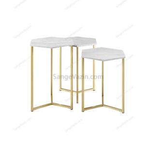 میز جلو مبلی سنگی سفید