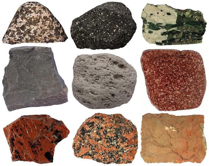 انواع سنگ های آذرین