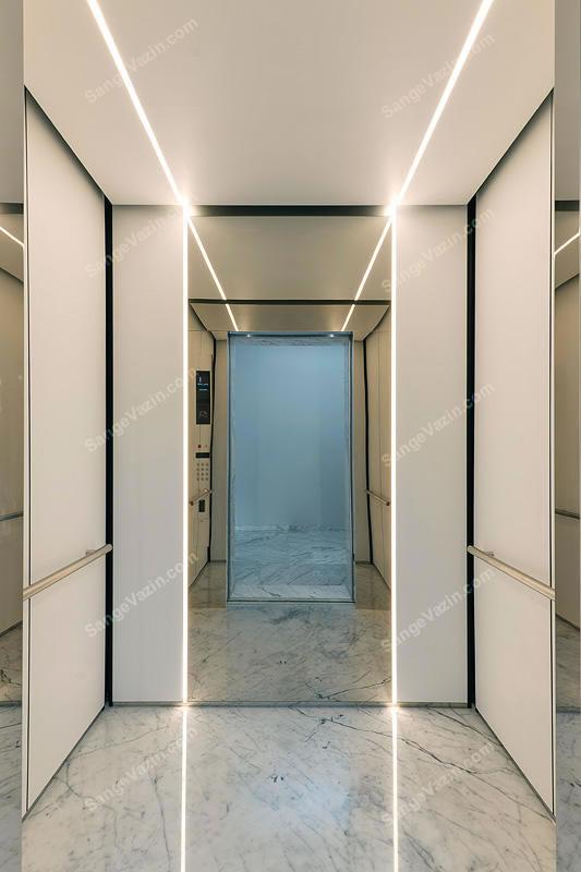 سنگ کف آسانسور مرمریت سفید