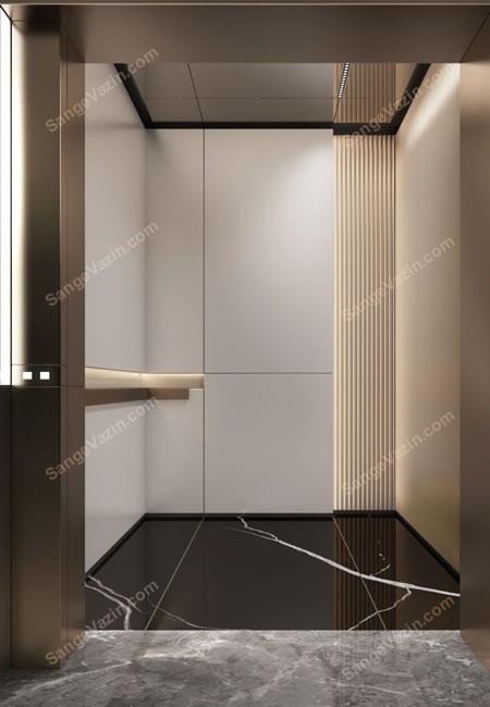 سنگ کف و قاب دور آسانسور