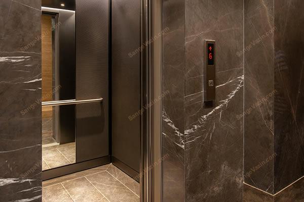 قاب و کف سنگی آسانسور