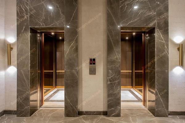 قاب آسانسور سنگ مرمریت لاشتر