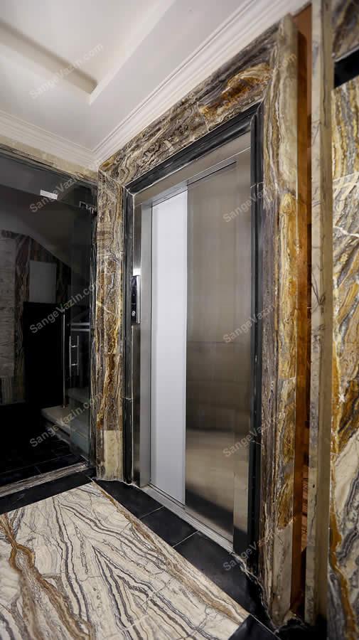 قاب زیبای سنگی آسانسور