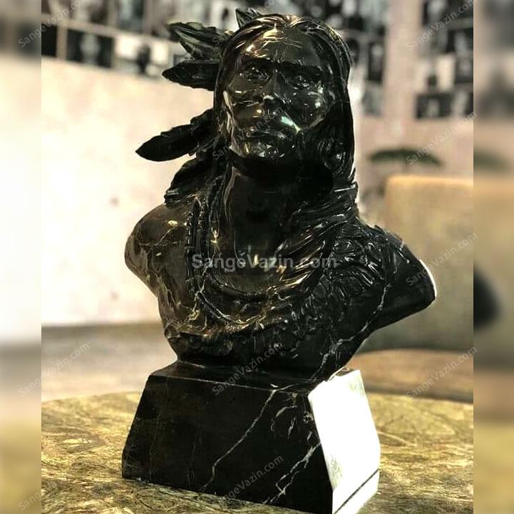 مجسمه رومیزی سرخپوست