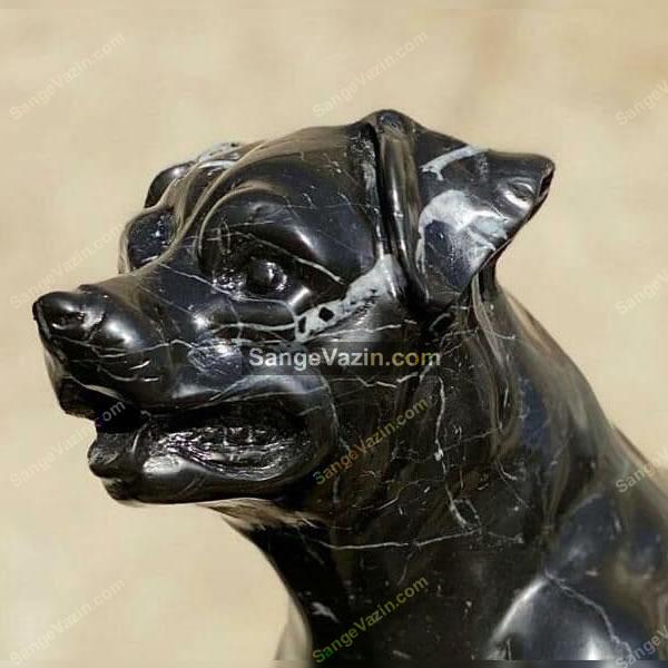 جزییات مجسمه سگ سیاه