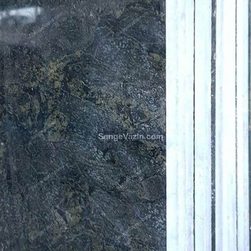 دسته سنگ گرانیت سبز جنگلی