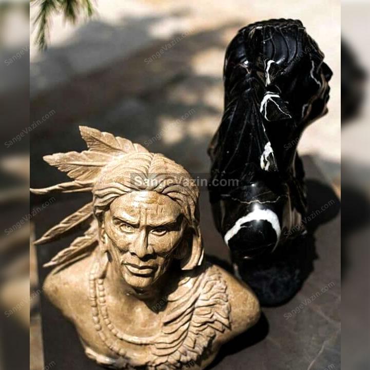 مجسمه های سنگی سرخپوست
