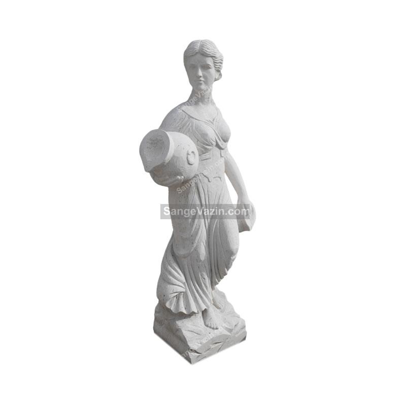 مجسمه سنگی زن رومی