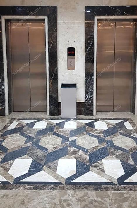 سنگ مرمریت نجف آباد در قاب آسانسور